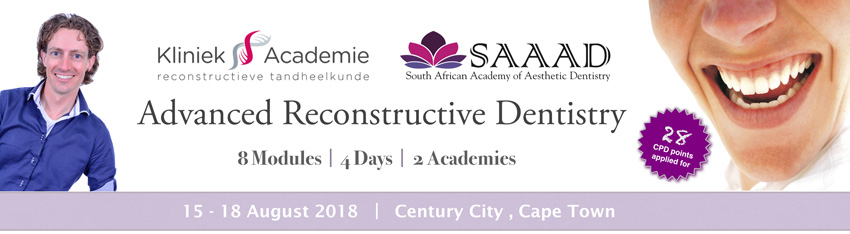 Advanced reconstructive dentistry Course Sjoerd 2018 Banner 850x234
